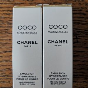 CHANEL mademoiselle body lotion minis